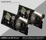 LOREO Lite 3D Viewer - Black & White - Folded Flat in Case